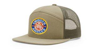 Smooth Angler Khaki Mesh Back Hat