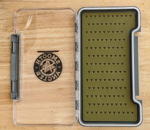 Water Resistant Fly Box with Self Healing Silicone Insert