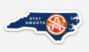 NC Stay Smooth Vinyl Sticker